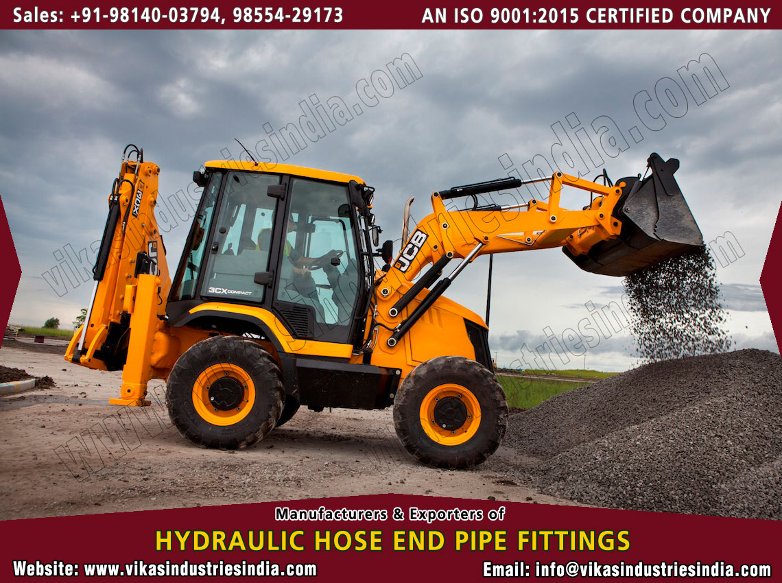 JCB Hydraulic Hose Fittings manufacturers suppliers exporters distributors dealers from India punjab ludhiana