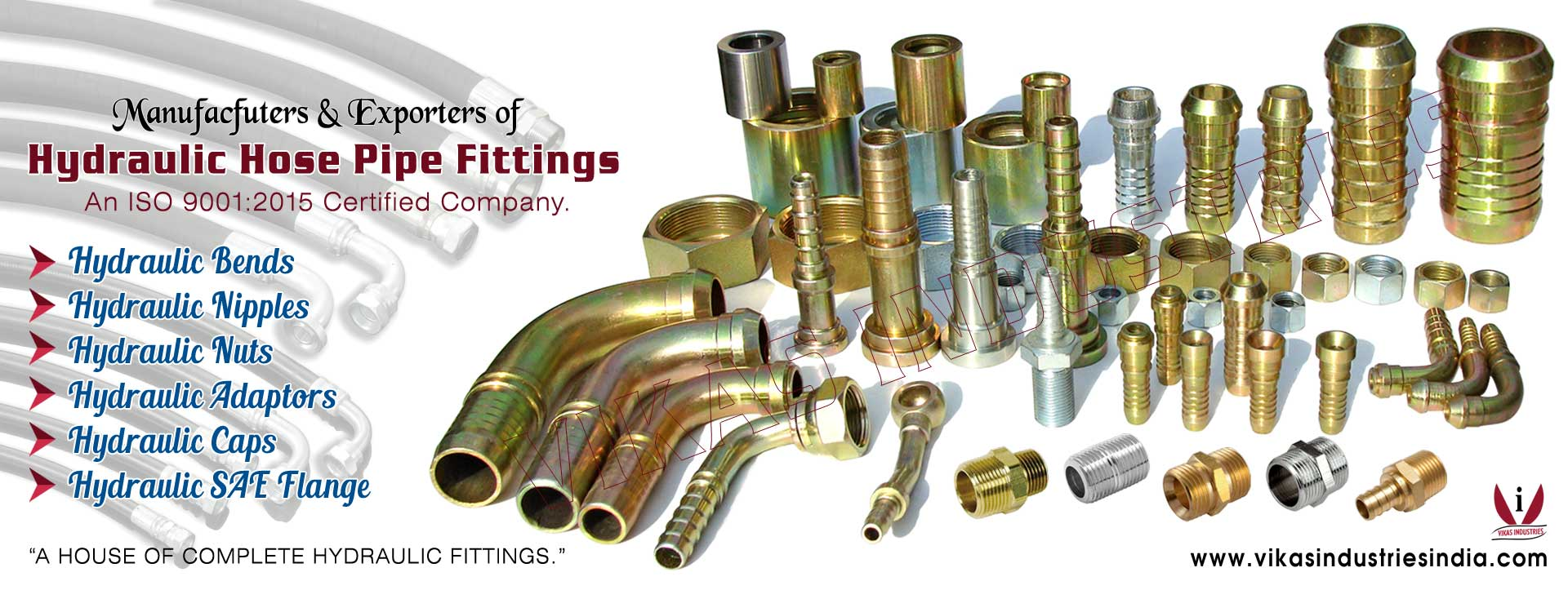 Hydraulic Hose Pipe Fittings manufacturers exporters suppliers in India Punjab Ludhiana