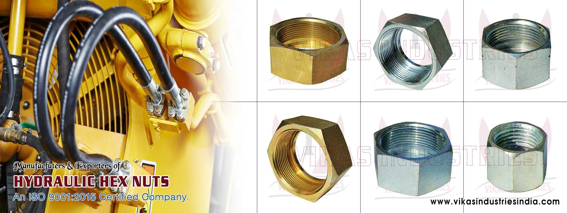 hydraulic nuts hydraulic hex nuts manufacturers exporters suppliers in India Punjab Ludhiana